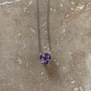Tiffany & Co sterling silver and amethyst necklace